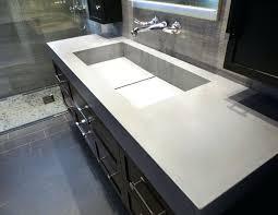 Double Faucet Da Concrete Sink And Custom Vanity Industrial Bathroomtrough Basin