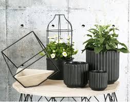Decorative Glass Vases Home Decor Flower Pots Ceramic Vases Black White Direct Line