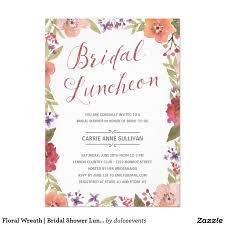 bridal shower luncheon invitations 415 best wedding wreath bridal shower invitations images on
