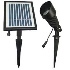Brightest Solar Landscape Lighting - solar goes green solar powered black outdoor spot light with warm