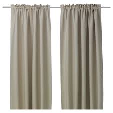 Linen Curtains Ikea Vilborg Curtains 1 Pair Ikea