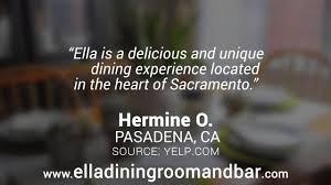 Ella Dining Room by Ella Dining Room U0026 Bar Reviews Sacramento Ca Youtube