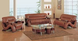 modern burgundy leather living room sofa w mahogany arms