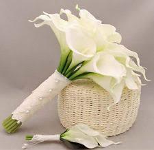 Silk Calla Lilies Lily Wedding Bouquet Ebay