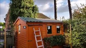 how to fit a metal panelled roof to a wooden shed youtube