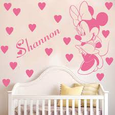 aliexpress com buy cartoon customized name kids room decoration aliexpress com buy cartoon customized name kids room decoration decals personalized minnie mouse wall sticker removable baby room decals cb 5 from