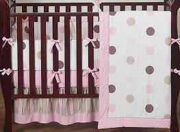 Brown And Pink Crib Bedding Pink And Brown Mod Dots Crib Bedding Set By Sweet Jojo Designs 9