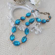 zircon blue necklace images Blue necklace blue zircon necklace blue collet choker old jpg