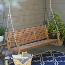 coral coast norwood 5 ft outdoor horizontal slat back porch swing
