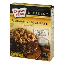 duncan hines decadent german chocolate cake 21 oz walmart com