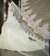 bridal veil 3 meter white ivory cathedral wedding veil jadasbridalandformal