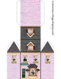 printable model house template printable printable paper house template