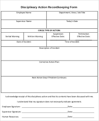 sample employee disciplinary action form 7 examples in word