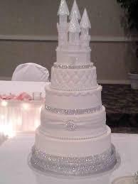 glass wedding cake toppers topper christmas fresh flower using white roses dusty miller
