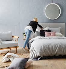Head In Comfortable Bed One Quilt Cover Two Ways With Stylists Aimee And Katy Adairs Blog