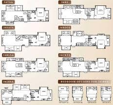 cedar creek rv floor plans cedar creek fifth wheel floorplans