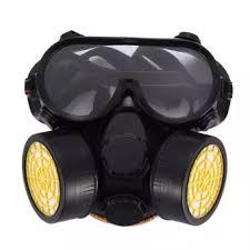Masker Gas gas industri kimia anti debu masker set kacamata melukis alat