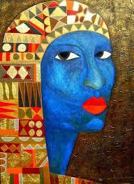 Seeking Painting Blue Seeking Painting By Gbolahan Ayoola