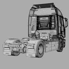 iveco stralis dump truck 3d model cgtrader