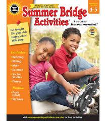summer bridge activities workbook grade 4 5 carson dellosa