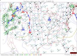 surface weather map exercise