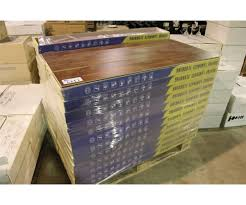 pallet of bravoe brown teak laminate flooring