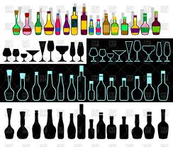 alcohol vector alcohol assortment row of bottles vector clipart image 97751