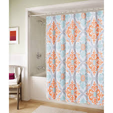 At Home Curtains Blue And Orange Marcone Shower Curtain At Home At Home