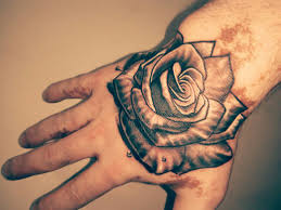 rose tattoo designs on hand