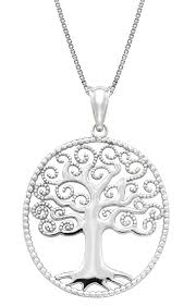 sterling silver necklace pendants images Sterling silver tree of life necklace pendant with 18 jpg