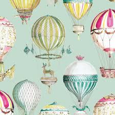 air balloon kids room wallpaper non woven wallpapers of