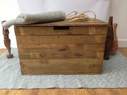 Basket Ottoman by Rustic Wooden Ottoman Storage Chest Trunk Shabby Chic