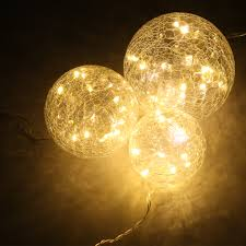 String Lights Balls by 45 Led Crackled Glass Balls String Fairy Light Starry Xmas Party