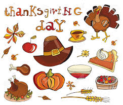 thanksgiving day icon set royalty free cliparts vectors and