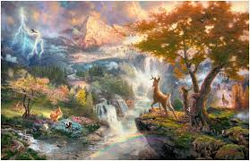 painting is the most intellectual origin of kinkade s disney