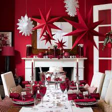 home decoration red painted wall decorative hanging stars
