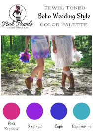 Beautiful Color Palettes by Jewel Toned Boho Wedding Style Color Palette Pink Pearls