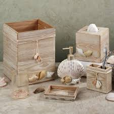 bathroom accessories made from wood ideas beach inspired