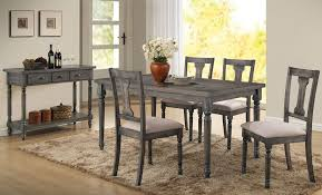 grey dining table set weathered grey finish table set