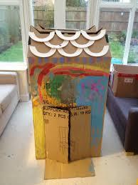 cardboard box play house my kid craft