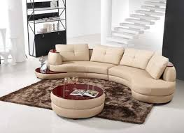 Living Room With Curved Contemporary Leather Sofa  Benefits Of - Curved contemporary sofa living room furniture