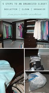 5 steps to an organized closet free printable clean mama