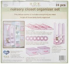 nursery closet organizer pink 24 piece by delta children