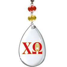 chapter garland chi omega set of 3 magnetic ornament