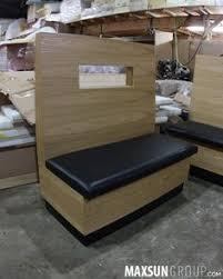 Booth U0026 Banquette Maxsun Group Barheight Woodcapping Custom Booth Banquette Storage Booth