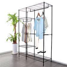 Galvanized Pipe Clothes Rack New Wardrobe Clothes Rack Garment Hanging Rack Rail Wire Metal