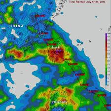 Rainfall Totals Map Matmo Was 10w Northwest Pacific Ocean Nasa