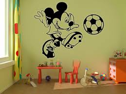 big football decal promotion shop for promotional big football g353 big mickey mouse football kids wall stickers art room removable decals children cartoon wall stickers decorative arts