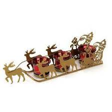 Flying Reindeer Christmas Decorations by Santa And Reindeer Ebay