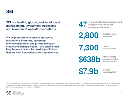 Sei Institutional Investment Trust Advisorselect Sei Investments Company Investor Presentation